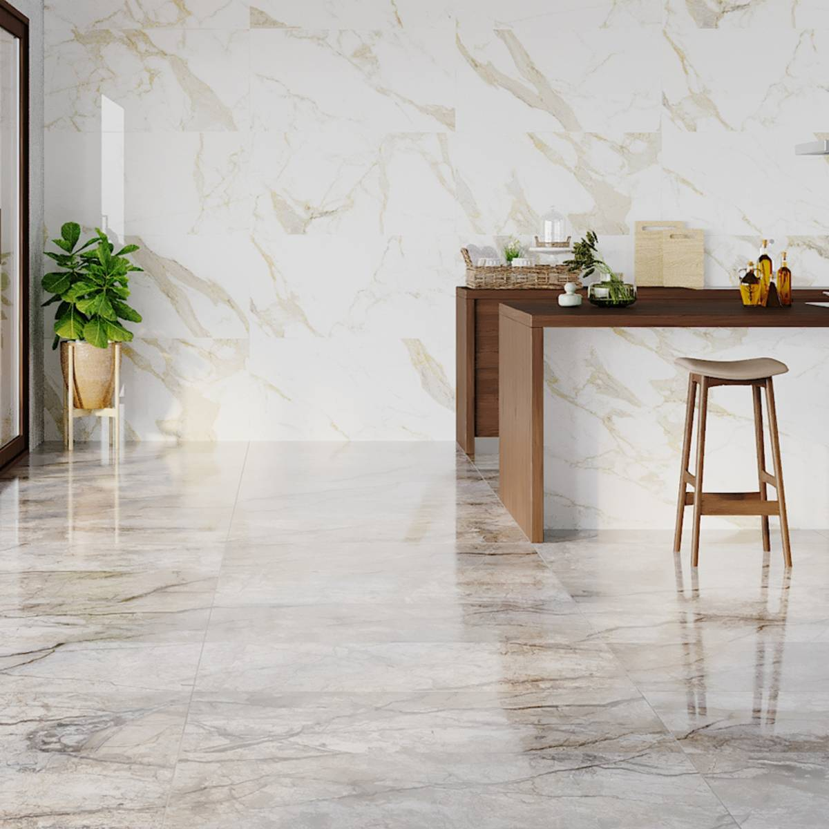 Gold Calacatta Polished Porcelain